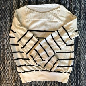 Lucky Brand Puff Sleeve Striped Sweater